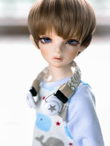 BJD Male/Female Brown&chocolate Short Hair Wig for SD/MSD Size Ball-jointed Doll