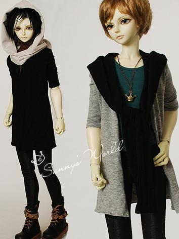 BJD Clothes Boy/Girl Gray/B...