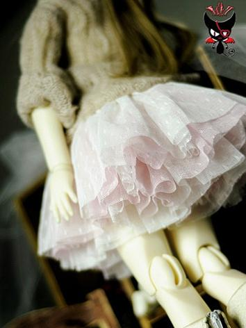 BJD Clothes Girl Pink Skirt...