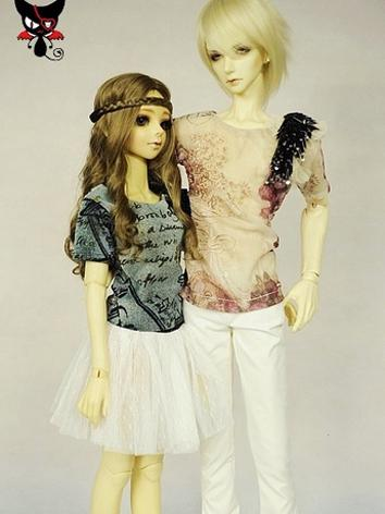 BJD Clothes Girl/Boy T-shir...