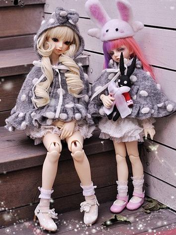 BJD Clothes Girl Gray Cloak for SD16/MSD/SD Size Ball-jointed Doll