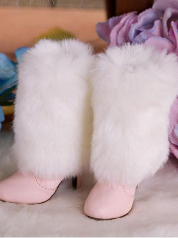 【Limited Edition】Bjd Shoes 1/3 Girl Pink Fluff High Boots SH315111 for SD Size Ball-jointed Doll