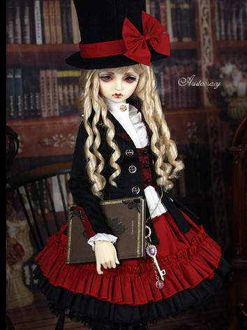 Bjd Clothes【Buffalo】+ Lady Mary Black&Red Suit for SD10/SD13/SD16/MSD Ball-jointed Doll