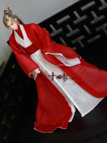 BJD Clothes Chinese Ancient Male Red Suit【Hongran】for MSD/SD/70CM Ball-jointed Doll