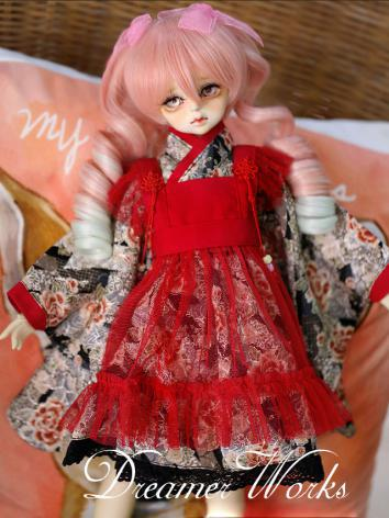 BJD Clothes Female Kimono Yulata Suit for MSD Ball-jointed Doll