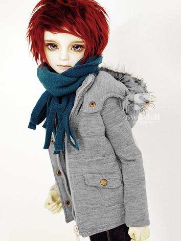 BJD Clothes Boy Gray Warm C...