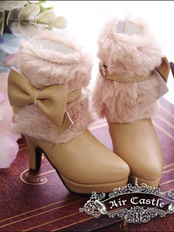 Bjd Girl Pink/Red/Chocolate/Brown Winter Short Boots Shoes for SD16/SD13/SD10 Ball-jointed Doll