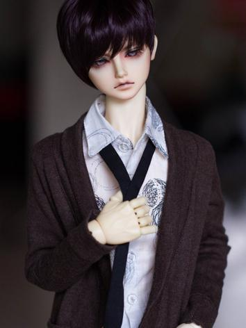 BJD Male/Female Dark purple Short Hair Wig for SD Size Ball-jointed Doll