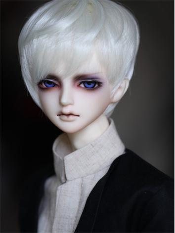 BJD Male/Female White Short Hair Wig for SD Size Ball-jointed Doll