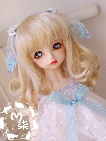 BJD Wig Light Gold Hair Wig for YSD/MSD/SD Size Ball-jointed Doll