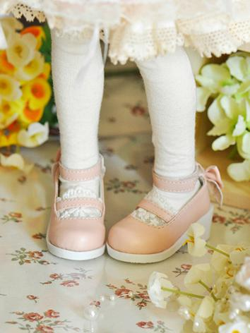Bjd Shoes Female Purple/Green/Pink/Blue Cute Shoes for SD/MSD Size Ball-jointed Doll