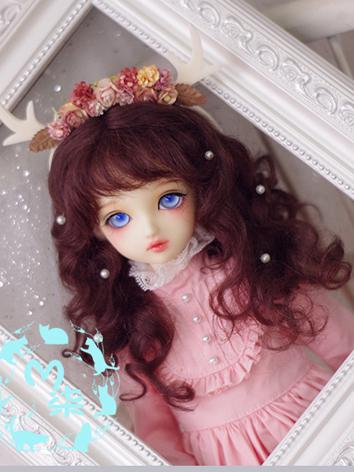BJD Wig Curly Hair Wig for ...