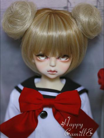 BJD Wig Female Changeable Wig for MSD Size Ball-jointed Doll
