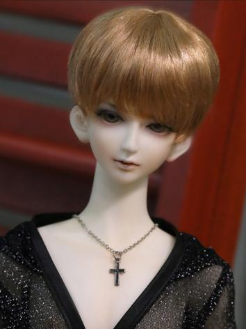 BJD Wig Male Light Brown SHort Wig for SD Size Ball-jointed Doll