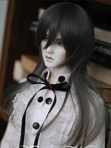BJD Wig Male Gray Long Wig for SD/MSD Size Ball-jointed Doll