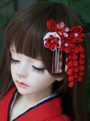 BJD Kimono Hairpin Hairpiece[Hongzhilian]for MSD/SD/70cm Ball-jointed doll