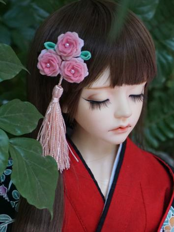BJD Kimono Hairpin Hairpiece[Rose]for MSD/SD/70cm Ball-jointed doll