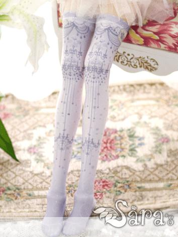 Bjd Socks Lady WHITE High Stockings for SD Ball-jointed Doll