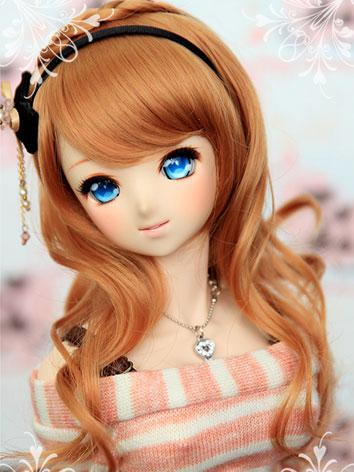 BJD Girl Honey Brown Curly Wig CW-01 for SD Size Ball-jointed Doll