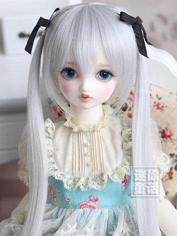 BJD Girl Gray Wig for SD Size Ball-jointed Doll