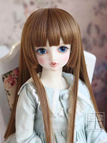 BJD Girl Light Gray/BlackBrown/Gold/Mint Long Curly Wig for SD Size Ball-jointed Doll
