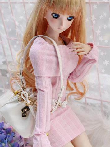 BJD Clothes Female Girl Pink Sweater for SD/DD Size Ball-jointed Doll