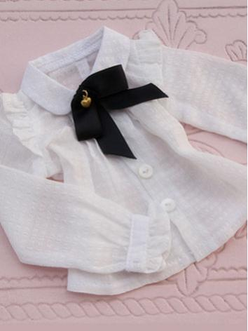 BJD Clothes Female Girl White Shirt for SD/DD/MSD Size Ball-jointed Doll
