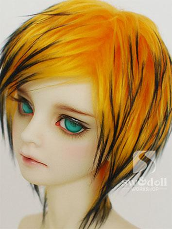 BJD Wig Yellow&Black Hair W...