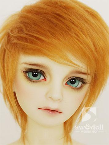 BJD Wig Golden Brown Hair W...
