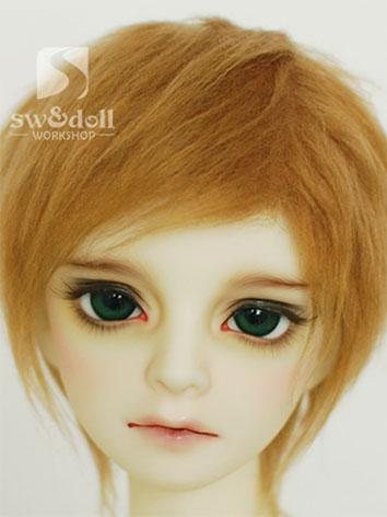 BJD Wig Light Brown Hair Wool Wig for SD/MSD/YO-SD Size Ball Jointed Doll