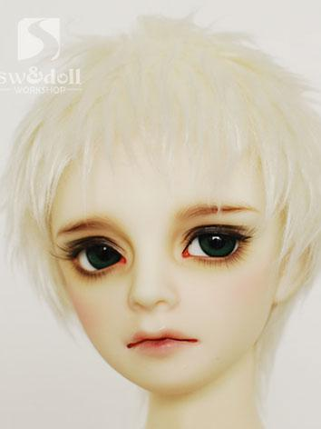 BJD Wig White Hair Wool Wig for SD/MSD/YO-SD Size Ball Jointed Doll