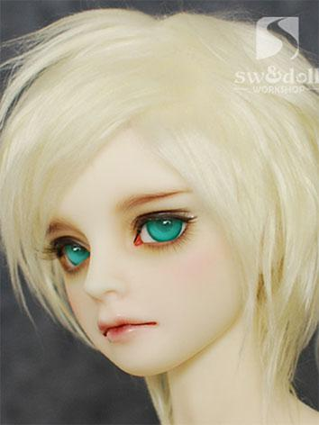 BJD Wig Light Gold Hair Woo...