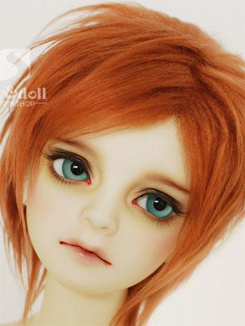 BJD Wig Dark Orange Hair Wo...