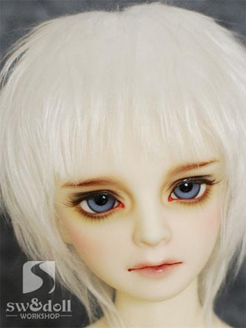 BJD Wig White Hair Wool Wig...