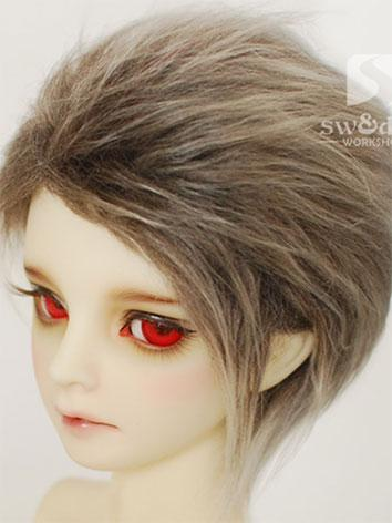 BJD Wig Light Coffee Hair W...