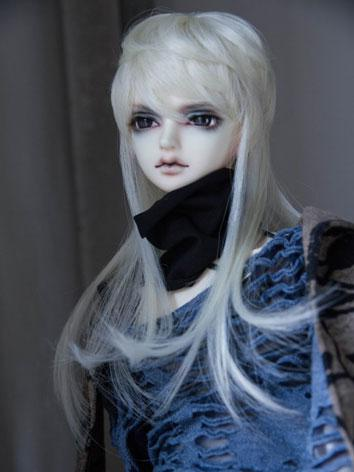 BJD Male/Female Beige Hair Wig for SD Size Ball-jointed Doll