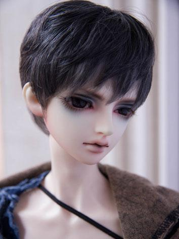 BJD Male/Female Gray Short Hair Wig for SD Size Ball-jointed Doll