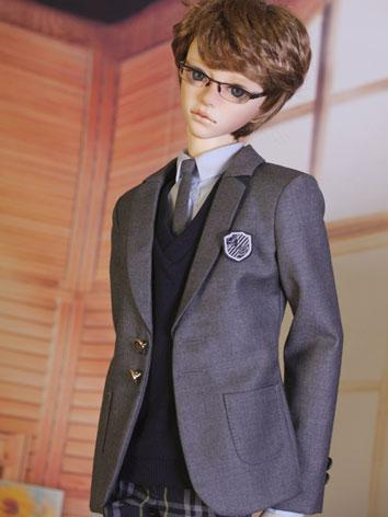 BJD Clothes Boy Student Clothing Suit [GTS 2016-B] Gray for SD13/SD17/70CM Size Ball-jointed Doll