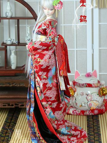 BJD Clothes Boy/Girl Kimono Set [Zhuhe] for 75cm/70cm/SD/MSD/YSD Ball-jointed Doll