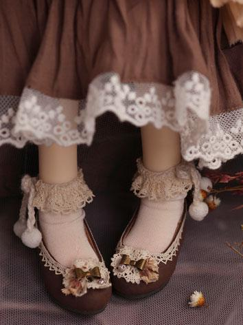 【Limited Edition】Bjd Shoes 1/4 girl retro shoes/butterfly SH416031 for MSD Size Ball-jointed Doll