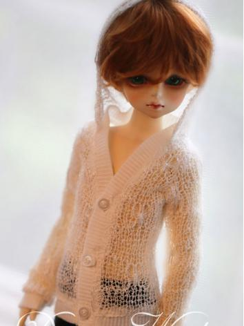 BJD Clothes Female/Male White Cardigan for MSD/SD Ball-jointed Doll