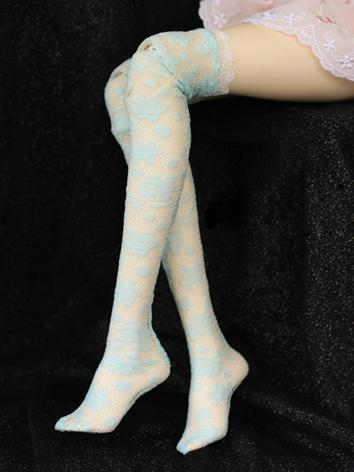 Bjd Socks Girls Blue High S...