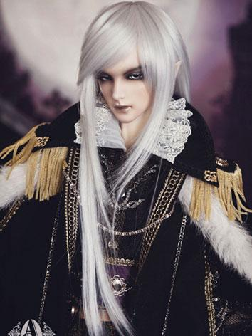 【Limited Edition】BJD 1/3 silver-white long hair wig WG31052 for SD Size Ball-jointed Doll