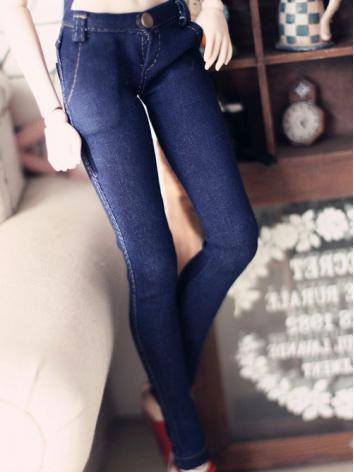 BJD Clothes Blue Jeans Trousers for SD/MSD Ball-jointed Doll