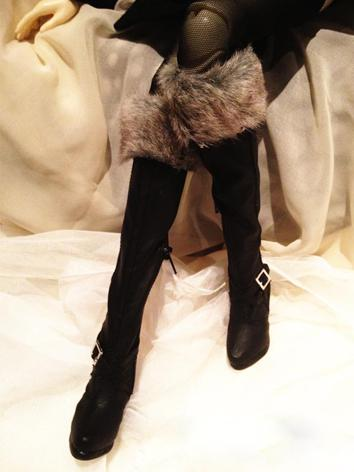 Bjd Girl/Female Black Over-knee Boots High-heel Shoes for SD16 Ball-jointed Doll