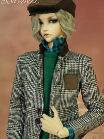 BJD Clothes Euro green Boy Suit for SD13/SD17/70CM Size Ball-jointed Doll