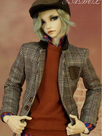 BJD Clothes Euro brick red Boy Suit for SD13/SD17/70CM Size Ball-jointed Doll