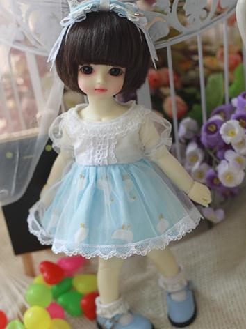BJD Clothes 1/6 Girl Sweet Dress for YSD Ball-jointed Doll