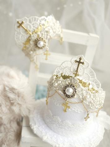 BJD Hair Decoration White Crown for MSD/SD/70cm Ball-jointed doll