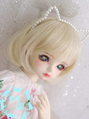 BJD Wig Gold BOBO Hair Wig for MSD/SD Size Ball-jointed Doll